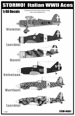 Stormo Decals 48001 - Italian WWII Aces Part I 1/48