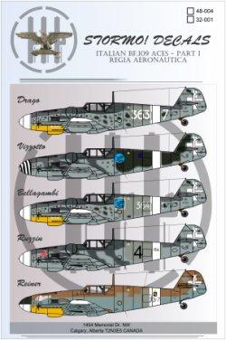 Italian Messerschmitt Bf.109 Aces Part I - STRM 48003/32001