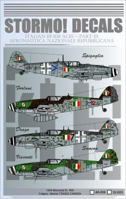 Italian Messerschmitt Bf.109 Aces Part III - STRM 48006/32003