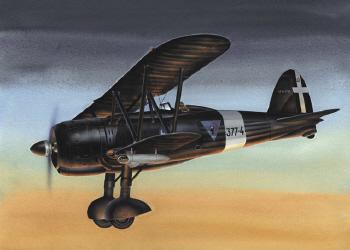 Classic Airframes - FIAT CR.42 CN Caccia Noturna 1/48 - CA 497 (Collectible)